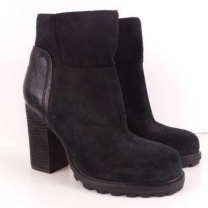 Sam Edelman Franklin black leather bootie 7.5 NWOT